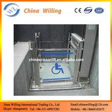 CE Certification and One Cylinder Hydraulic Lift Type electric wheelchair lift
