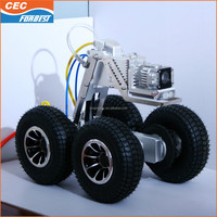 Pipe inspection surveillance robot/duct pipe inspection crawler sewer camera for diameter 230mm-1500mm