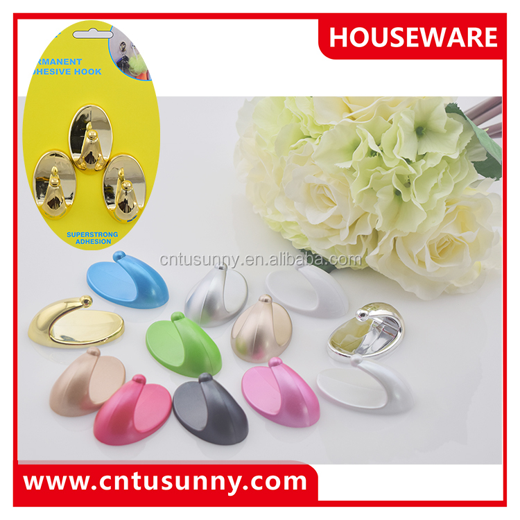Large supply wholesale hot sale heart shape plastic magic wall hook