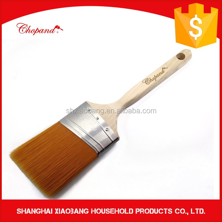 Difference Size Wooden Handle Flat/Angle Paint Brush