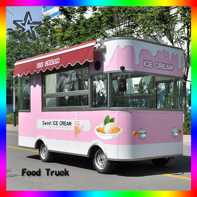 Wholesale Fast food truck in street Hamburger food van from china Uranus-SRJJIC