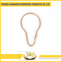 Metal bronze shower curtain hook rings without roller L55mm ID32mm WD2.3/2.1