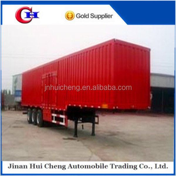 three axles 50 ton enclosed cargo van/box type semi trailer