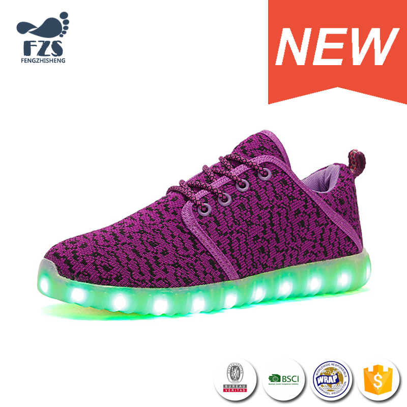 2017 New design china wholesale led light running shoes for women