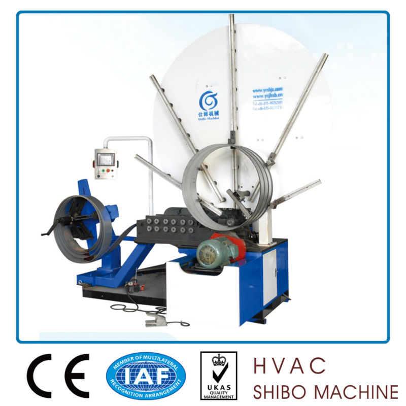 Round air duct forming machine