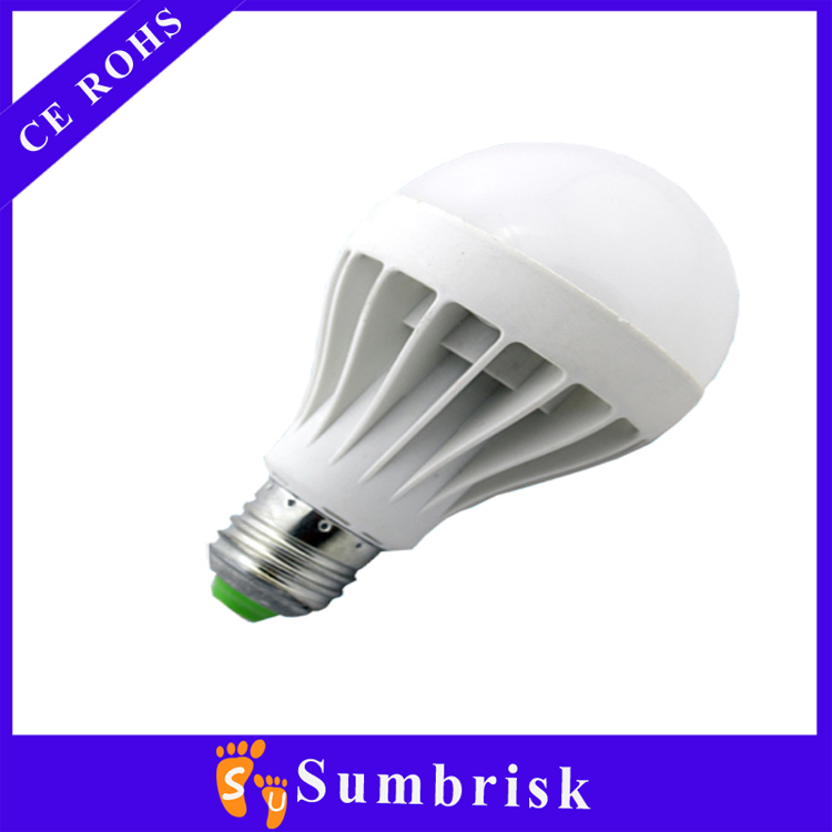 Cheap price E27 led light SMD2835 led plastic bulb