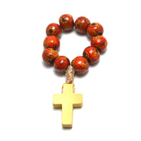 finger ring Catholic rosary in wooden jewelry,finger rings,finger ring in necklace