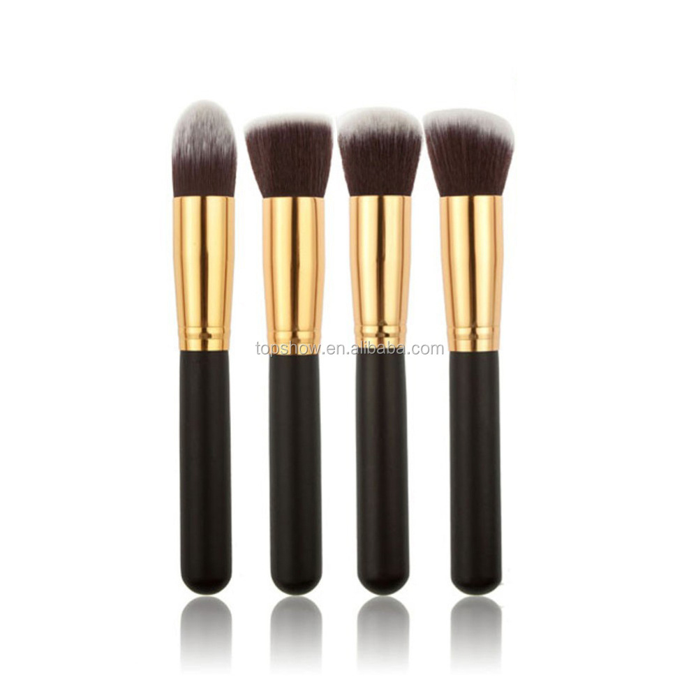 Beauty shaped foundation eyebrow eyeliner lip facial high quality tooth single oval makeup brush