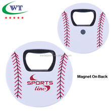 Promotional Special Sports Ball Style Beer Bottle Opener For Fridge Magnet