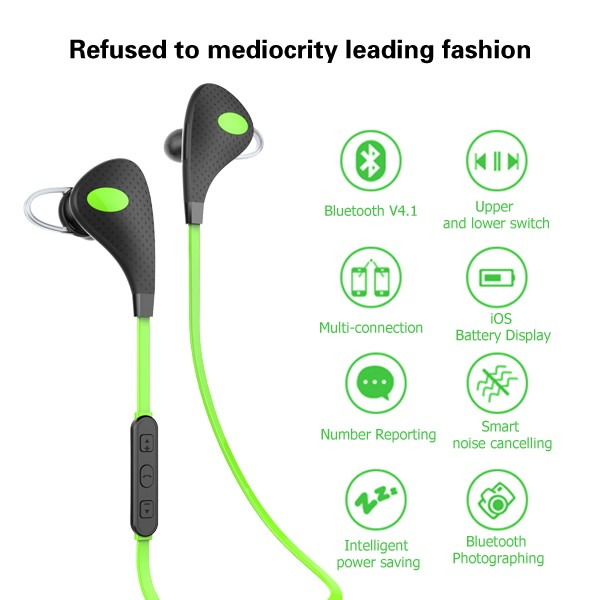 2016 Wholesale New Bluetooth Version 4.1 Wireless Sport Bluetooth Headset