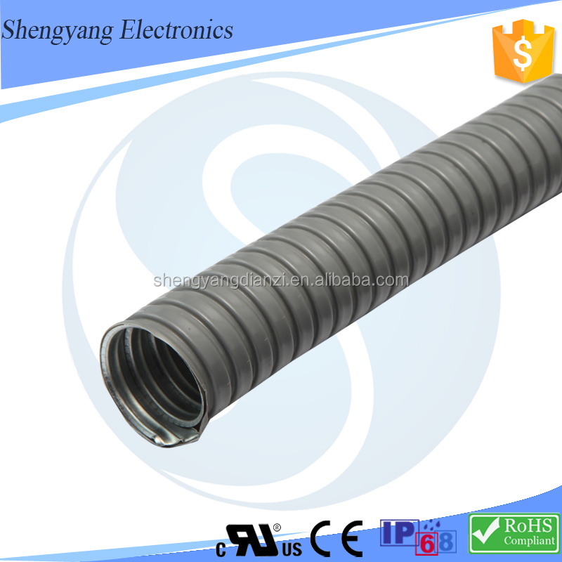 SY Wiring Accessories Metal Flexible Pipe PM125-135.5 Hot Sale Metal Tube Black PVC Pipe