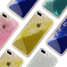 Wholesale phone case customize for iphone case for iPhone 6 6s plus Soft tpu liquid glitter for samsung galaxy s6 s7 edge