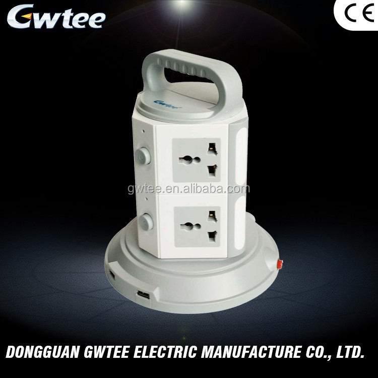 Manufacturers direct sales multiple outlets CE universal surge protector tower power socket