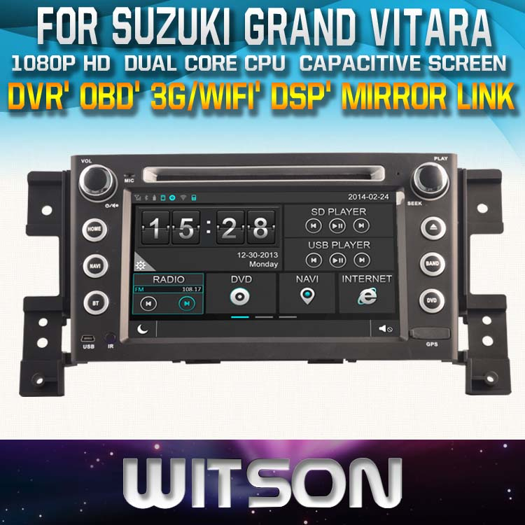 SPECIAL CAR DVD PLAYER WITH GPS FOR SUZUKI GRAND VITARA 2005-2012 TOUCH SCREEN STEERING WHEEL CONTROL WIFI 3G RDS