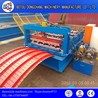 Arch roof sheet making machine/metal roof curving forming machine