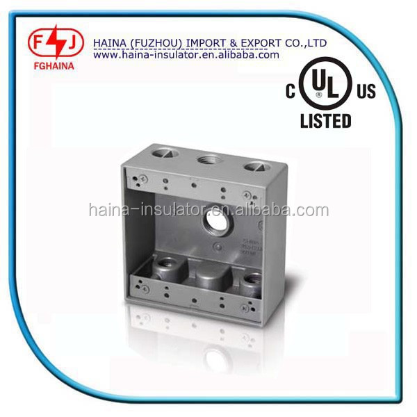 Waterproof Single electrical outlet box size 3/4'' holes