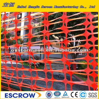 Orange Color Plastic warning mesh