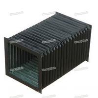 square fire proof material coating fabric bellows cover