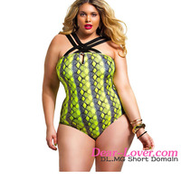 Dear-lover Snake Crisscross Strap Plus Size full sexy bikini girl www sex photo com