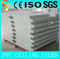 colored gypsum ciling board with pvc and aluminum foil back