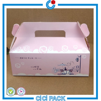 Custom logo cheap wedding birthday small cake paper boxes for cupcake and bakery