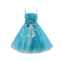 Wholesale Baby Girl's Princess Birthday Party Wedding Lace Dress In stock Kid Latest Design Dress Purple Pink