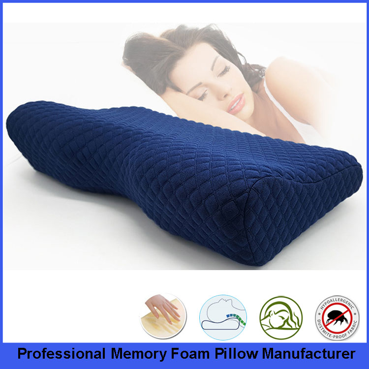 Unique Memory Foam Contour Pillow With 6 magnets for Back, Stomach and Side Sleepers