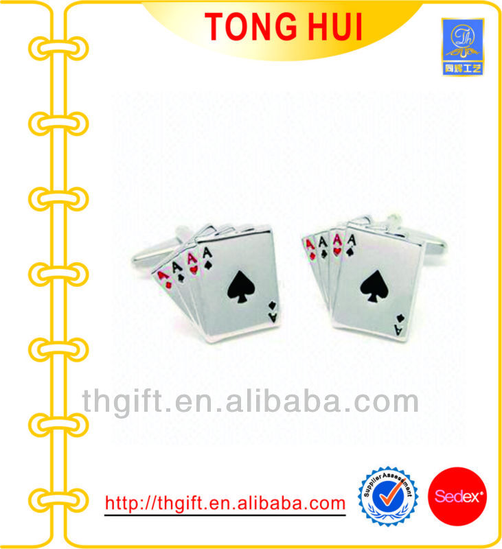 2014 Hot Sale Poker Metal Cuff Link