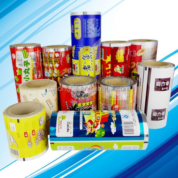 Full color printing plastic roll film for sealing food