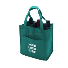 Durable Promtotional Reusable Printed Non Woven Wine Tote Bags