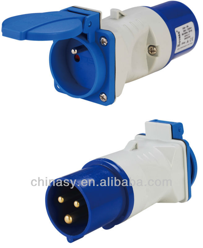 CEE french industrial socket and plug IP44