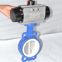 China made flange connection PTFE seat exhaust butterfly valve