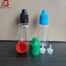 30ml PET plastic liquid thc e cigarette with coloured cap
