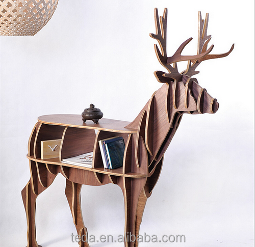 Wooden Deer shaped Study Book Shelf