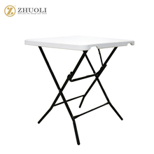 manufacturer branded new design plastic low price folding tea table in square