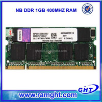 Wholesale 2 pieces 2x1GB 400mhz ddr1 2gb laptop ram