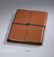 Hard cover customized mini notebook looks like phone book or pad size with brown paper