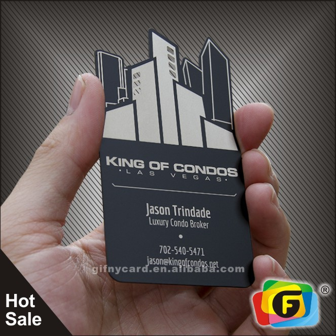 China supplier high quality laser engraving metal business card