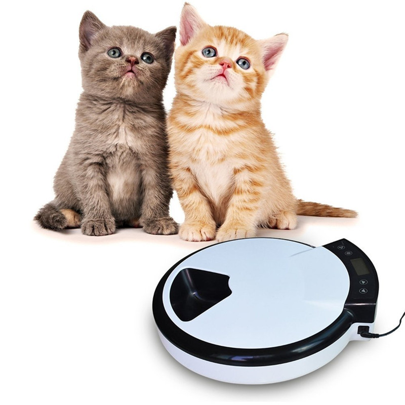 5 Meal Automatic Pet Feeder Food Dispenser Automatic Cat Feeder