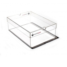 Luxury Acrylic Shoe Box Medium Clear Acrylic Shoe Display Box, clear acrylic shoe case plastic sneaker box with finger