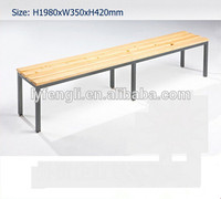 Modern Park Used Long Wooden Benches