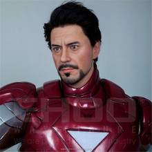 HOT SALE Action Movies Wax Figures Realistic Silicone Fiberglass Iron Man Life Size Wax Silicone Statue Sculpture