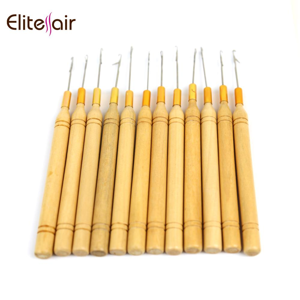 factory cheap knitting wooden needle latch crochet hook set for braid hair extension or hair weave
