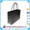 Surface embossing luxury black twisted handle paper bags