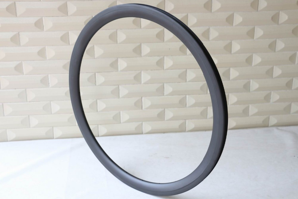 High quality carbon road wheel rim 40mm Tubeless clincher 700C U shape carbon rim road bike