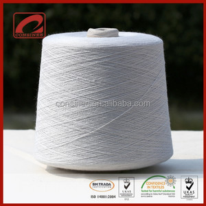 Consinee stock blended cotton core spun lycra yarn for machine knitting