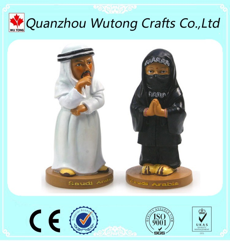 Custom Resin Souvenir Region United Arab Emirates Culture Mascot Figurine