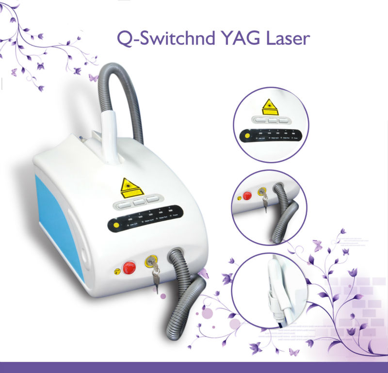 Eyeliner Empty Q-switched Nd Yag Laser 1064nm 532nm for Woman Semi-permanent make up Removal