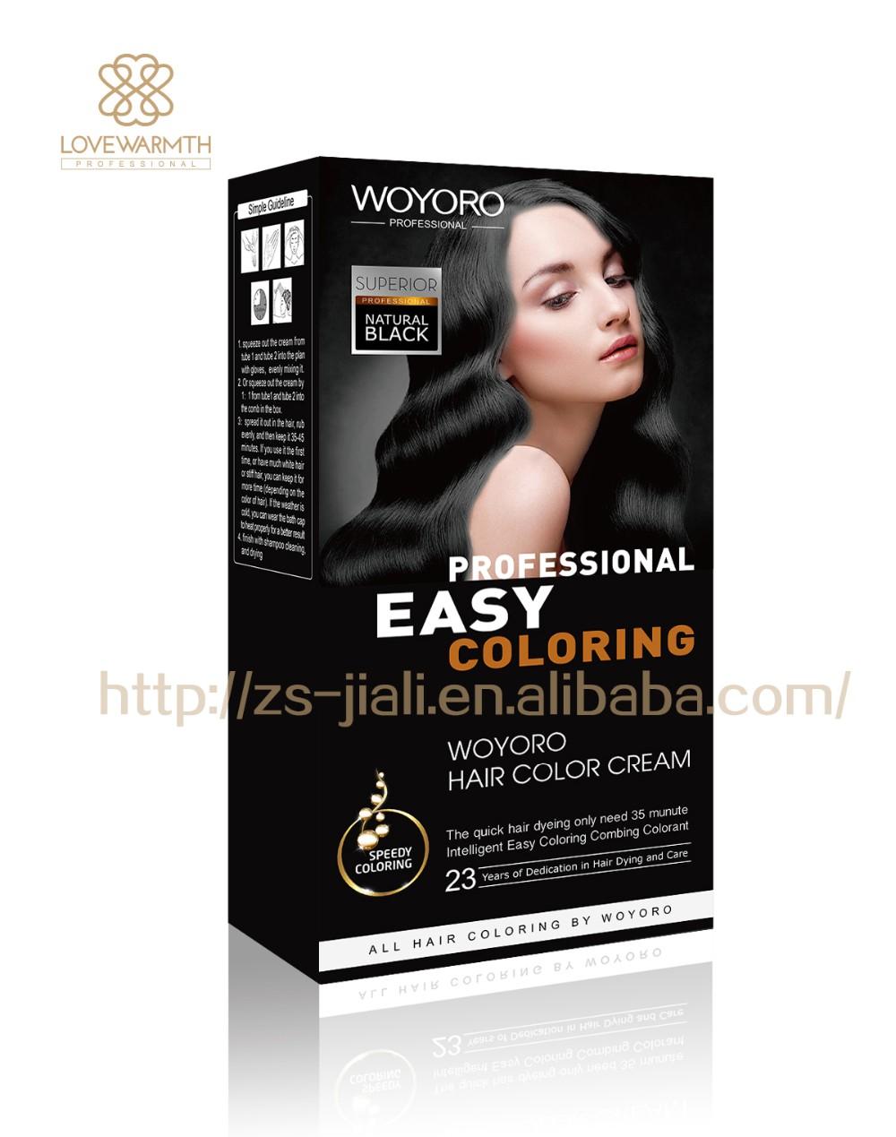 Hot Sale Hair Dye Permanent Hair Color Cream 120ml120ml View