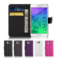 Wallet Card Solt PU Leather case for Samsung Galaxy Alpha